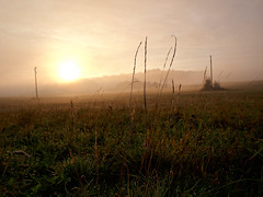 October Morning Mood (Petr Horak) Tags: autumn clouds dawn farmland firstlight foggy grass grassland meadow mist misty morning risingsun sky sunrise time dew droplet fall sun web novknn czechia