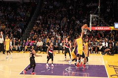 Lakers basket ball game at Staples Center (hamham730) Tags: basketball lakers staplescenter sports la