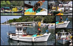 Collage (wilma HW61) Tags: collage lakka   paxos paxi paxoi vissersbootjes  alieftikskfi historisch historic historical historique eiland  nisi evrpi  fishingboats bateauxdepche barchedapesca photoborder haven harbour port peloponnese ionoinisland isola le island insel outdoor wilmahw61 wilmawesterhoud water wasser  ellda griekenland griechenland greece grecia grce boat waterfront waterkant