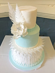 Feather Winter Wedding Cake