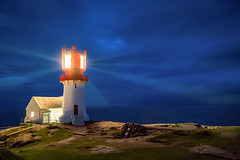 Lindesnes Lighthouse, Vest-Agder, Norge (North Face) Tags: lindesnes fyr norge norway norwegen lighthouse night light long exposure leuchtturm nacht licht canon eos 5d mark iii 5d3 24105l sdkap cape