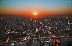 Turning (blackstation) Tags: sunset city cityscape shanghai light ray