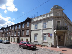 Murnieku Street in Riga, Latvia. Wednesday, May 1, 2013 (Vadiroma) Tags: street city buildings wooden europe capital baltic latvia riga lettland rga latvija cobbledstreet baltikum woodenarchitecture lettonie 2013 murniekustreet