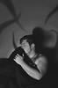 Night Terrors (Blayne Austin) Tags: portrait blackandwhite white selfportrait black night self dark scared nightmares terrors nightterrors