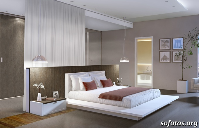 WELTON FOTOS Fotos de quartos de casal planejados e decorados