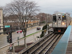 CTA Green Line Crossing The City Limits from Oak Park to Chicago