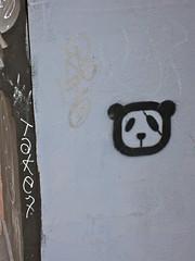 Panda Diplomacy, New York, NY (Robby Virus) Tags: city nyc newyork art apple big stencil panda manhattan eyepatch diplomacy
