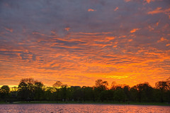 May sunset over Kensington Gardens 04.05.2013 (yorkshire stacked) Tags: sunset london clouds reflections nikon hdr kensingtonpalace roundpond photomatix nikkor18105mm nikond7000 cranecoloursskycity
