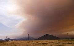 Like Night and Day (wanderingnome) Tags: california orange usa fire unitedstates smoke socal camarillo venturacounty springsfire pentaxk7 wanderingnomez may2013