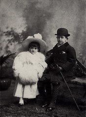 Phyllis and Eddie (pellethepoet) Tags: boy portrait girl hat fashion kids children sister brother photograph bowlerhat phyllis meyerstein ehwmeyerstein