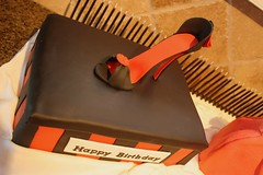 981197_10151412366911714_48171153_o (Carla's Cake Creations) Tags: sexy shoe purse diva shoebox gumpaste fondantshoe