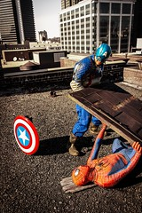 lift (digitizedchaos) Tags: costume birmingham cosplay alabama spiderman superhero captainamerica lyrictheater canon1585