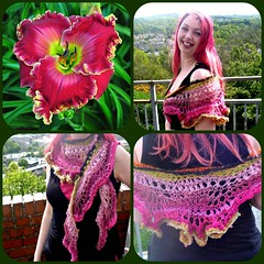 Day Lily Collage (Veldagia) Tags: knit wrap freeform