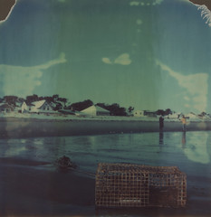 (abdukted1456) Tags: ocean winter sea sky beach me polaroid sx70 maine shore integral scarborough expired tz timezero expiredfilm lobstertrap landcamera instantfilm pinepoint