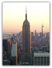 Manhattan from the Top of the Rock (TheAmazingNjut) Tags: city nyc sunset newyork building manhattan financialdistrict midtown empirestatebuilding wtc freedomtower flickrandroidapp:filter=none sunsetonnewyork