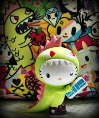 Monster Monday (Lawdeda ) Tags: hello monster rainbow pattern blind box kitty superfan toki doki kittyzilla picmonkey