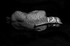 (Funky64 (www.lucarossato.com)) Tags: bw man skin rear helmet tube bn uomo solo terra casco tubo pelle schiena herat dietro screpolato