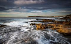 Mahon Pool Sunrise (Grumpysumpy) Tags: australia beach bestofaustralia clouds coastline dawn fujixt1 movingwater morning maroubra mahonpool rocks sydney sunrise sky seascape water wave xt1