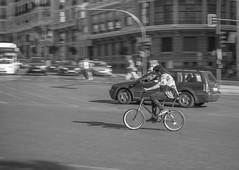 Effort. (http://www.ayusoreino.esy.es/) Tags: bwstreetphotography bw espaa madrid spain rue urbana urban european noiretblanc monochrome panning street strase streetphotography streetphoto streetshot streetshoot strasse schwarzweiss domingo flickr granva nikon candidphoto callejeros candid calle callejeando blanconegro blancoynegro bikes