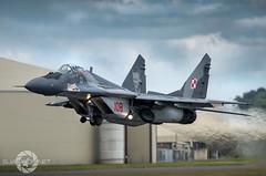 """ Fulcrum"" (SJAviation.net) Tags: nikon aircraft aviation jet airshow riat mig29 fulcrum polishairforce"