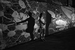 Jordan Eagles at Up Late Highline NYC (jeffreyjune16) Tags: jordaneagles projection blood newyork nyhighline outdoor blackandwhite bnw shadow selfies pattern street art design light painting nyc meatpacking gansvort standard hotel hlny highline high line park