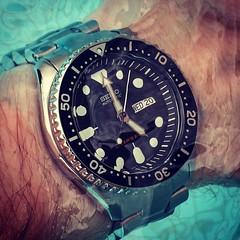 Seiko SKX007 (Fana ) Tags: seiko montre timepiece horloge wristwatch watch watches automatic automatique orange dial diver plongeuse nato scuba watchelse fanawatches seikodiver bracelets straps skx skx007 casio holidays trip travel intrieur