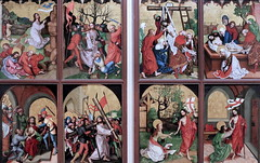 IMG_8190B Martin Schongauer. Actif    Colmar vers 1450-1491.  Retable des Dominicains. Altarpiece of the Dominicans. Enfance et Passion du Christ.  The Childhood and Passion of Christ. Vers 1480. Colmar. Unterlinden. (jean louis mazieres) Tags: peintres peintures painting muse museum museo france colmar museunterlinden martinschongauer retabledesdominicains