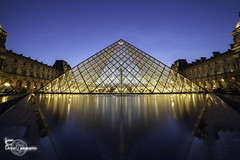 Blue time (Lonely Soul Design) Tags: paris louvre museum pyramid triangle architecture long exposure
