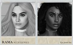 RAMA - Eye Jewel Set Collection (Faullon / RAMA) Tags: rama secondlife selfierama sl store shop accessorie eye set jewel mesh backdrop background