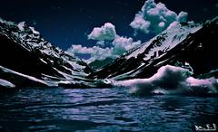 Lake Saiful-Malook (light painting) (M.S.J Photography) Tags: light painting asian pakistan kpk mountains outdoor night msjphotography