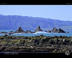 Swell (tomraven) Tags: rocks coast coastline water sea ocean waves tomraven blue aravenimage q32016 wellington southcoast nikon1 j5