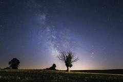 Rencontre Mars Satrune Antares 20160823-b (frankastro) Tags: mars saturne antares eos760d samyang16mm astronomy exterieur nuit arbre ciel toile astronomie plante