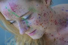 painting (Schuhuchen) Tags: farbe bunt portrait spritzer