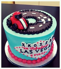 Vegas race car cake (Retro Bakery in Las Vegas) Tags: vegas blue race car