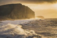 West Bay revisit (scott.hammond34) Tags: landscape seascape sunrise goldenhour westbay dorset jurrasiccoast waves storm stormbarney sky cliffs sea coastal