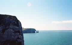 Etretat (Chapel Nathan) Tags: canon new f1 kodak ektar 100 film analog 35mm etretat falaises landscape sky sea cliffs france normandie manche