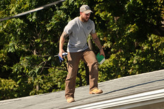 13 BEAR on the ROOF! (Violentz) Tags: male guy man roofer roof bear bearded hairy tattooed house home patricklentzphotography
