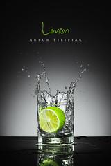 Limon (Artur Filipiak) Tags: limon splash water glass freeze canon canon6d tabletop vegetable green