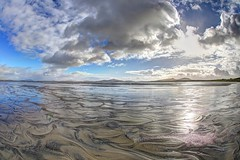 Neptune's net (pauldunn52) Tags: wet sand patterns sky grenitote north uist outer hebrides scotland