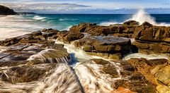 Cadillac Canyon (djryan78) Tags: flow rock victoria 6d landscape bassstrait cadillaccanyon dslr australia tide sigma indianocean canon canon6d 24105 sea morning hightide rocks beach ocean seascape outdoor spring strait wave sky sanremo sigma24105 water shore waves