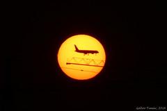 solar flight (Gbor Timr) Tags: sun solar plane flyby crane
