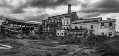 Abandoned Sugar Cane Refinery (ManchegoP.R) Tags: refinery ruin blackandwhotephoto building abandoned