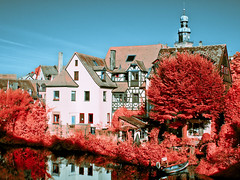 Infrared - Lauf a. d. Pegnitz (moggafogga) Tags: infrared infrarot filter falsecolor heliopan urban outdoor sunlight halftimbered germany landschaft landscape manualfocus