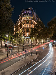 Corinthia Hotel (DSC00346-Edit) (Michael.Lee.Pics.NYC) Tags: london corinthiahotel jubileebridge northumberlandavenue whitehallplace architecture night longexposure lighttrails traffictrails sony a7rm2 fe2470mmgm