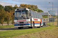 Stripey n' Dominant (FES 831W) (Strathclyder) Tags: stagecoach volvo b5861 duple dominant ii fes831w fes 831w stobcross road riverside museum partick glasgow scotland gvvt bridgeton lathalmond