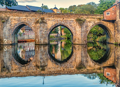 Elvet Bridge (robinta) Tags: durham bridge riverwear river colour warmth architecture historic building reflections old stone brick sky arch pentax sigma18200mmhsmc ks1 peaceful tranquil water