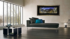 Wood frame panoramic Salon 3 (StephAnna :-)) Tags: sales artprint frame acryl glass living room bed bedroom deco art examples bilder ramen einramungen verkauf kunst encadrement vendre decoration chambrecoucher modern moderne bois verreacrylique acrylglas