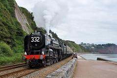 20120715     70000  Britannia (paulbrankin775) Tags: 71000 britannia torbay express sprey point teignmouth steam locomotive smoke