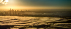 Manhattan Skyline at Sunrise (nsandin88) Tags: nyc aircraft d600 manhattan airplane ny newyork fly clouds air sun urban aviation aerial flying fog nikon skyline sunrise newyorkcity