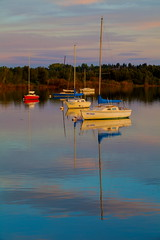 Seasonal (stevenbulman44) Tags: time sailboat water reflection pink blue sky canon summer white moored 70200f28l filter tripod lseries